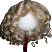 "12"" Ash Blond Mohair wig side part"