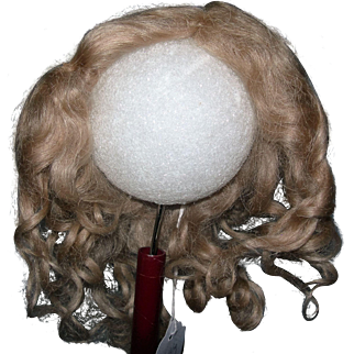"""8-9"""" Ash Blond Mohair wig side part"""