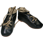 #2 German Bisque Doll Shoes