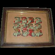 Vintage Santa Diecuts Framed