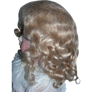 """11-12"""" Ash Blond Curly Mohair Side part wig"""
