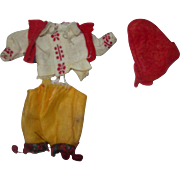 Mignonette German Outfit for Boy all bisque doll