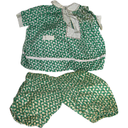 Just in Time for Easter! Vintage Rabbit print Composition Mama Doll Dress & Bloomers