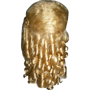 "Pale Golden Blond Mohair Wig 14"" Curls!!"