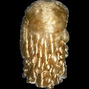 """Pale Golden Blond Mohair Wig 14"""" Curls!!"""