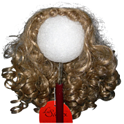 "8-9"" Honey Blond Synthetic wig Loads of curls."