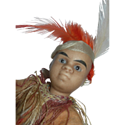 "Winter Sale****6"" Gebruder Kuhnlenz Indian Pouty Face - Red Tag Sale Item"