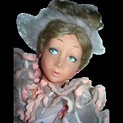 "26"" Lenci Boudoir Lady Organdy and Felt"