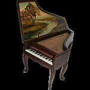 Ralph Partelow Dollhouse miniature 18th C. Harpsichord