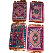Vintage 4 Tobacco Premiums/Rugs for Dollhouses