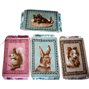 Vintage 4 Tobacco Premiums/rugs For Dollhouse; Sweet Animals