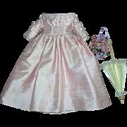 "Beautiful Pink Silk Dress for 14"" lady doll"