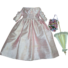 "Beautiful Pink Silk Dress for 14"" lady doll"