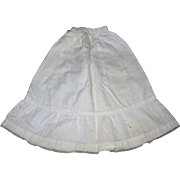 Vintage Creamy White cotton Petticoat for Lady doll