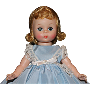 Wendy Kin in Taffeta and Lace Dress