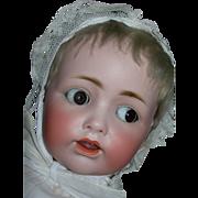 "20"" Rare Flirty Eye #257 JD Kestner Baby....Dressed wonderfully in Christening Gown"