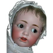 "20"" Rare Flirty Eye #257 JD Kestner Baby....Dressed wonderfully in Christening Gown"
