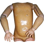 Antique Composition Torso Marked, Kestner