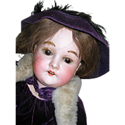 "24"" Queen Louise Dressed as Maid Marion in Purple Velvet"