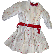 Vintage Sweet Dress Cream & Red