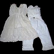 Beautiful Vintage Underwear for Large Bisque Dolls