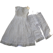 """Vintage Cotton Petticoat & Bloomers for 24-26"""" doll"""
