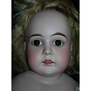 "Antique ""N"" Turned head JD Kestner Bisque Head w/Mohair wig, Pate & Arms...Pretty Face!"
