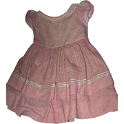 Antique Apron/over dress Gingham ...just wonderful