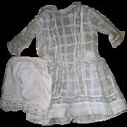 Antique Window Pane Dress & Bloomers