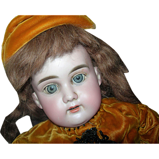 """Mystery Doll 24"""" EUS Germany Leather body Lady in Gold"""