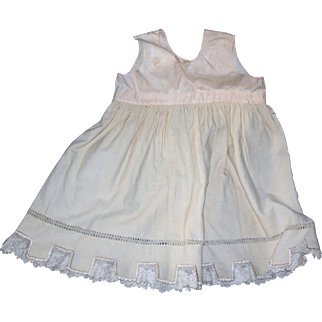 Antique Flannel Petticoat with square notched hem...wonderful