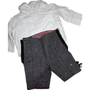 Authentic Antique Boys Outfit with leather high button shoes
