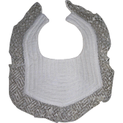 Small Vintage Bib with delicate lace
