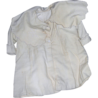 Yellowish Cotton Baby Coat smocking details