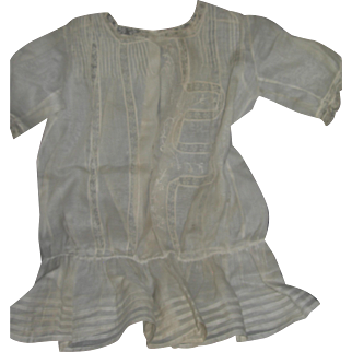 Batiste Flapper Dress with Insertion Lace & Tuck Work...wow