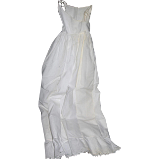 Starched and clean Creamy White Cotton Baby Petticoat scallop eyelet lace