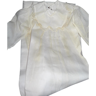 Vintage Batiste Christening dress, very simple in styling and Very sweet.