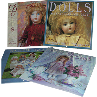 Doll Calendars 8 of them from 1990's into 2000's. Lovely Photographs!