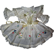 Darling Batiste dress & petticoat/bloomer combination for small dolls