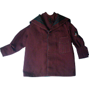 Child's Size Burgundy Nautical Jacket
