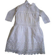 Large Embroidered Eyelet Dress-34 inch Doll