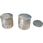 Two Miniature Silver Containers
