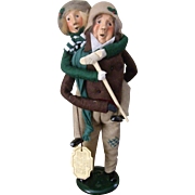 Byers Choice 1990 Bob Cratchit and Tiny Tim