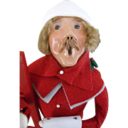 Byers Choice Caroler with Ladder