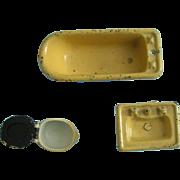 Miniature Bath Set for Dollhouse
