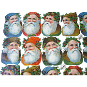 German Embossed Litho Die-cut Santas