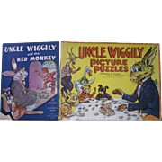 Vintage Uncle Wiggily Puzzles and Book