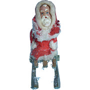 German Santa Cotton & Wax Candy Container