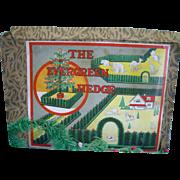 Vintage German Dollhouse Feather Tree Fence
