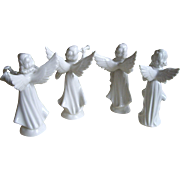 4  German Angel Figurines 5.5 Inches
